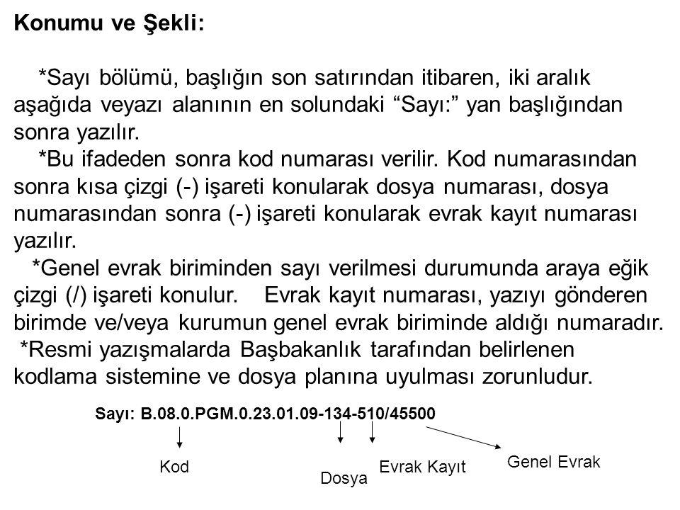 Konumu ve Şekli: