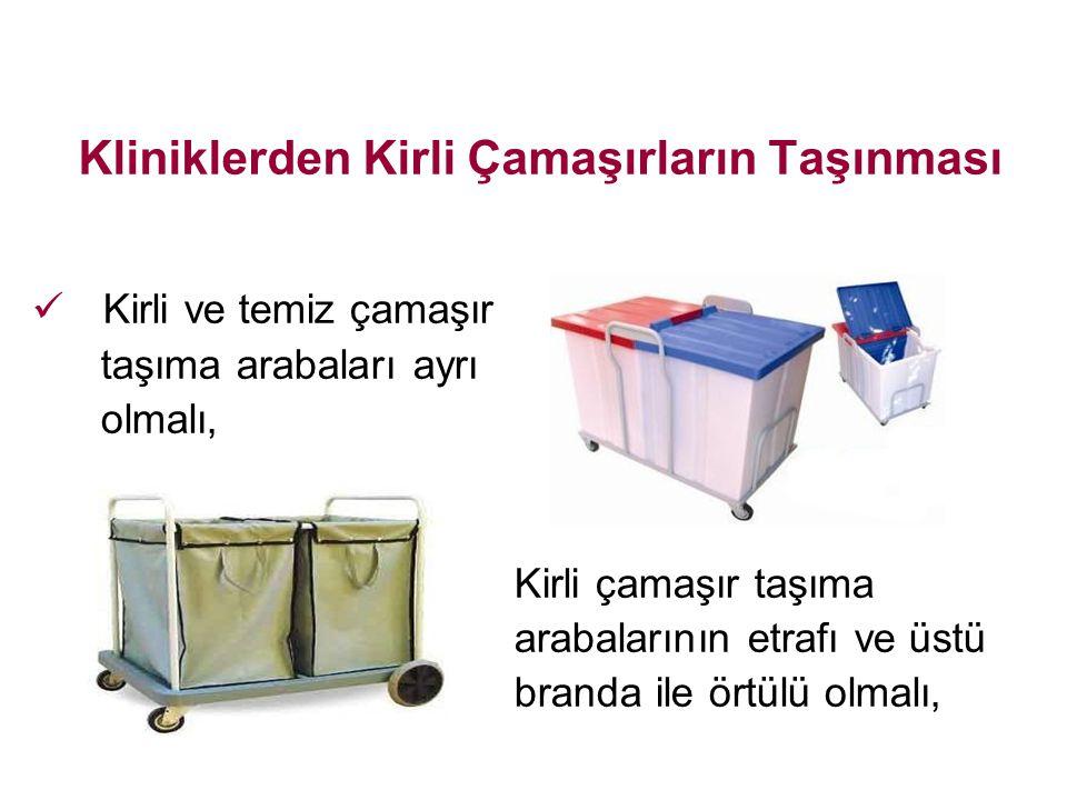 Kliniklerden Kirli Çamaşırların Taşınması