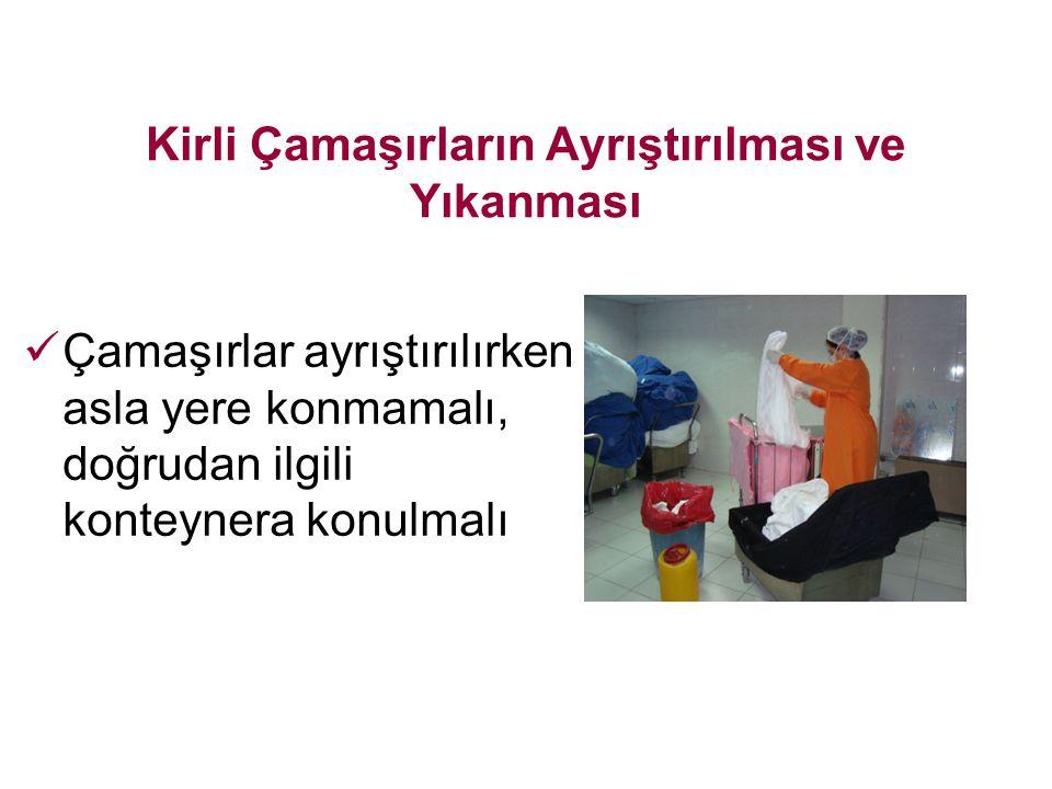 Kirli Çamaşırların Ayrıştırılması ve Yıkanması