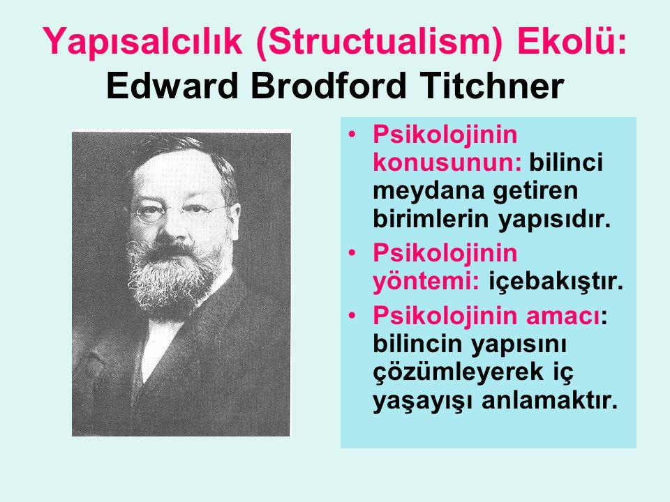 Yapısalcılık (Structualism) Ekolü: Edward Brodford Titchner