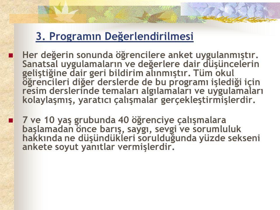 3. Programın Değerlendirilmesi