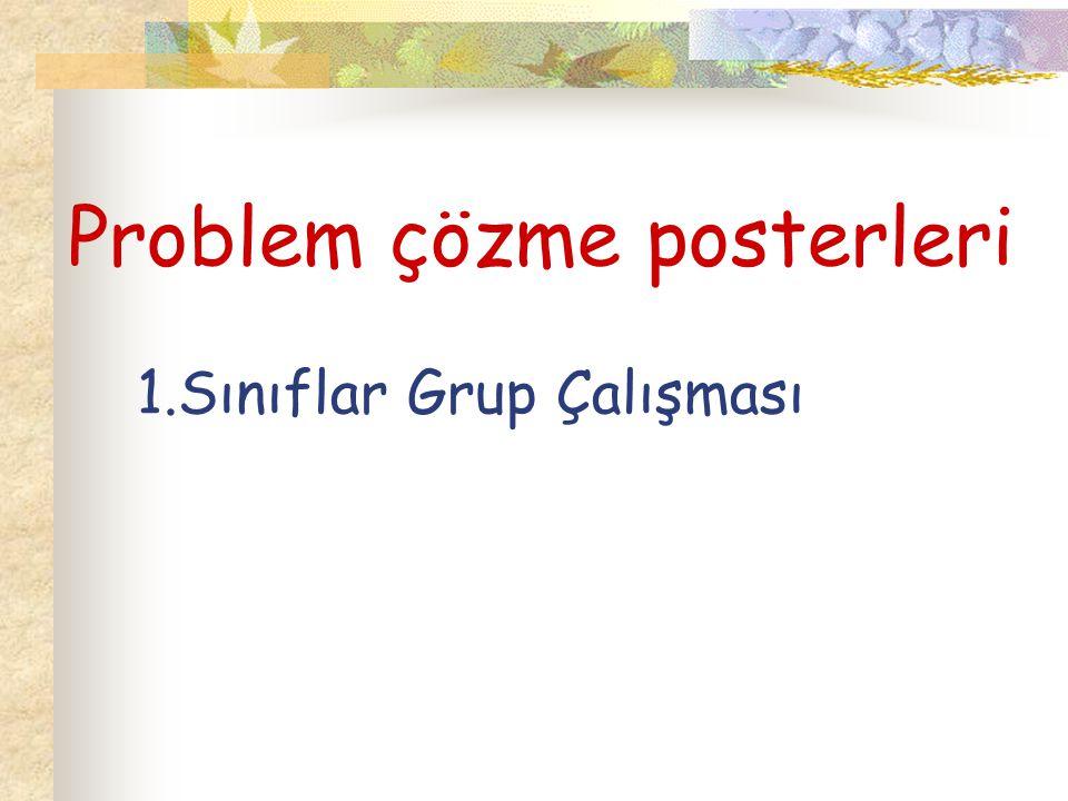 Problem çözme posterleri 1.Sınıflar Grup Çalışması