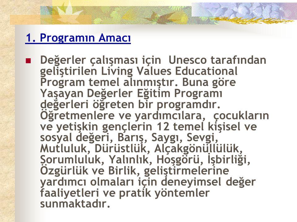 1. Programın Amacı