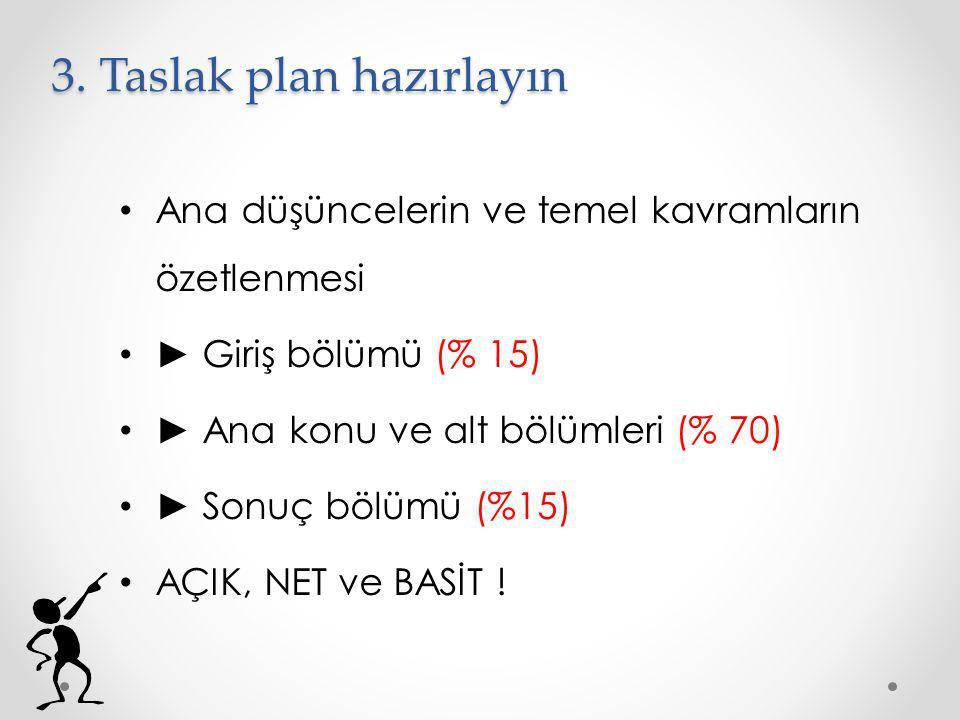3. Taslak plan hazırlayın