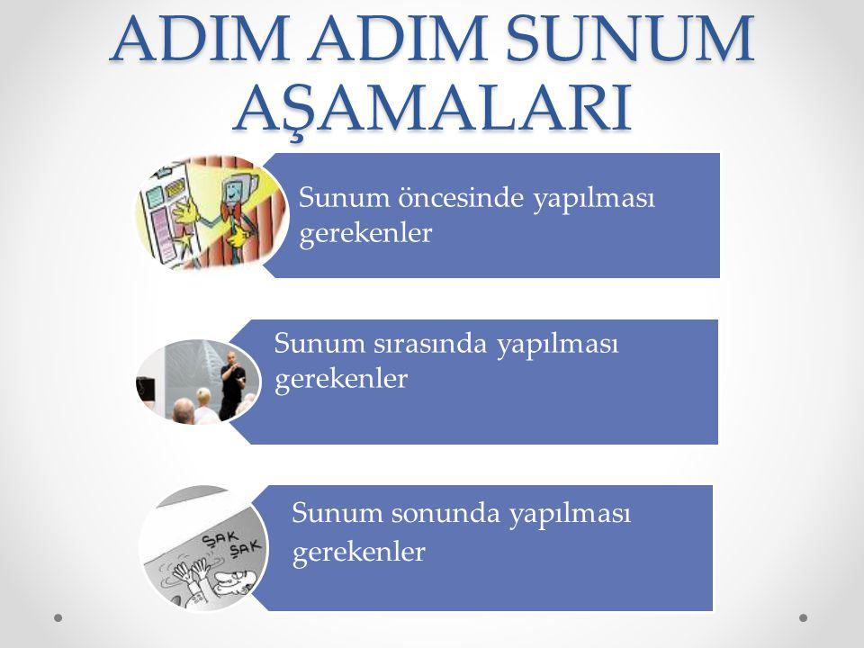 ADIM ADIM SUNUM AŞAMALARI