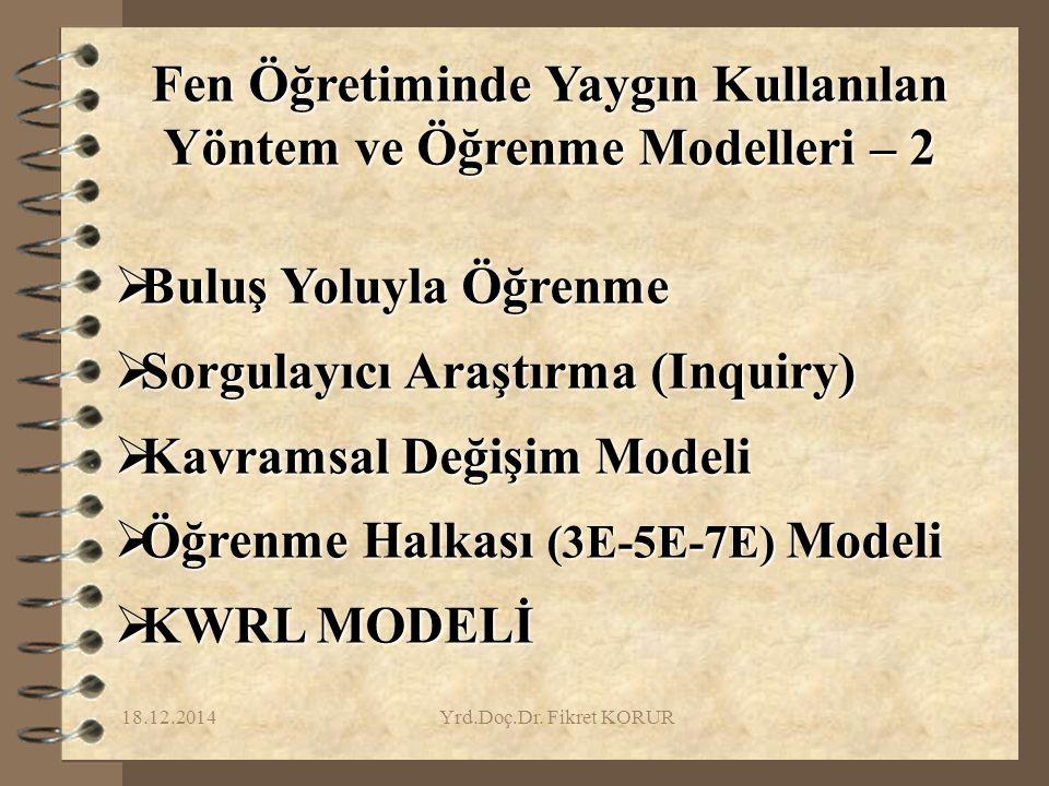 Fen Öğretiminde Yaygın Kullanılan Yöntem ve Öğrenme Modelleri – 2