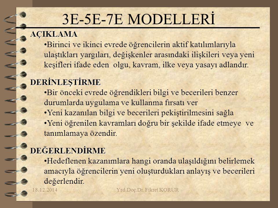 3E-5E-7E MODELLERİ AÇIKLAMA