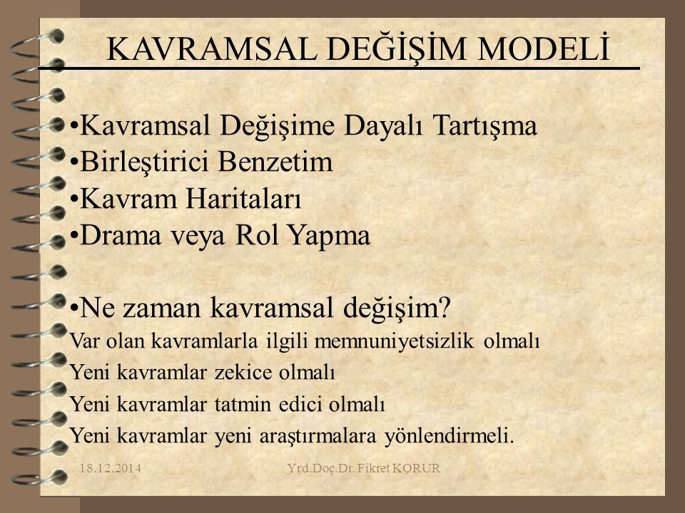 KAVRAMSAL DEĞİŞİM MODELİ