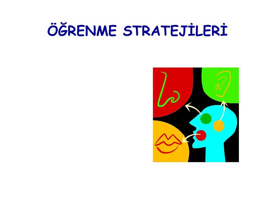 ÖĞRENME STRATEJİLERİ Anlamlandırma Stratejisi Örgütleme Stratejisi