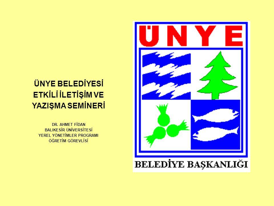 BALIKESİR ÜNİVERSİTESİ YEREL YÖNETİMLER PROGRAMI