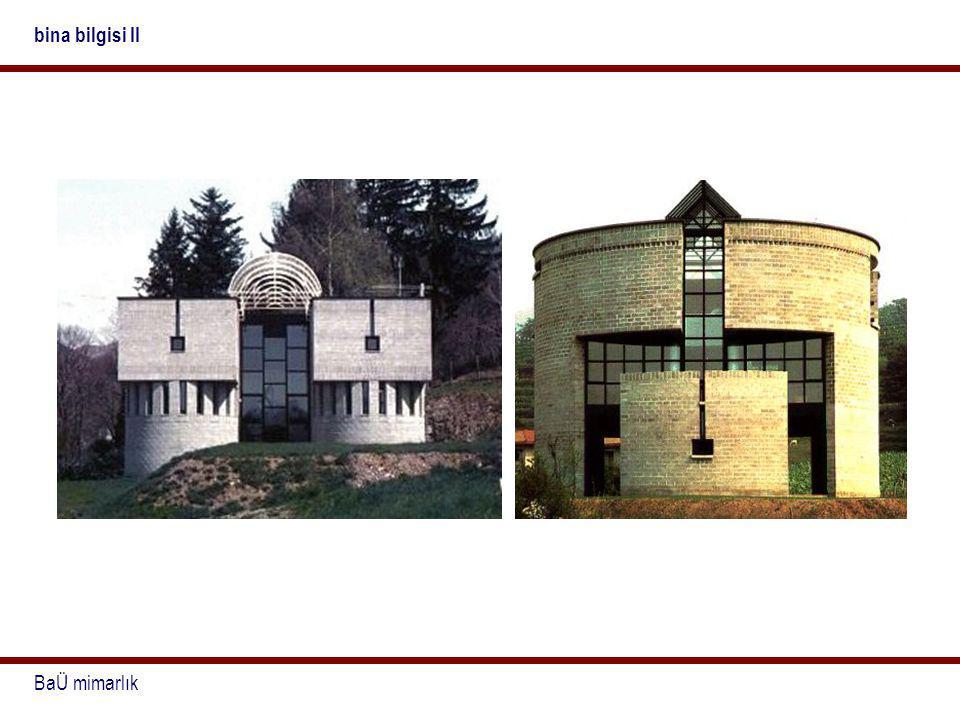 bina bilgisi II BaÜ mimarlık