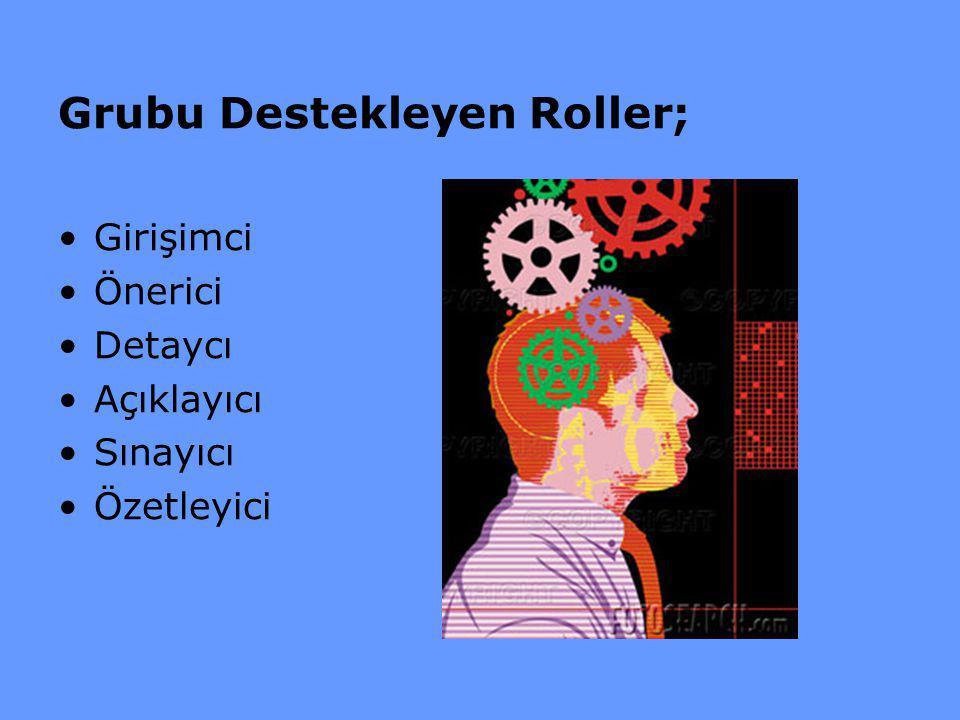 Grubu Destekleyen Roller;
