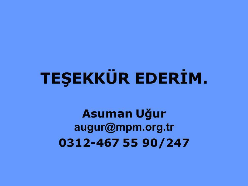 Asuman Uğur augur@mpm.org.tr 0312-467 55 90/247
