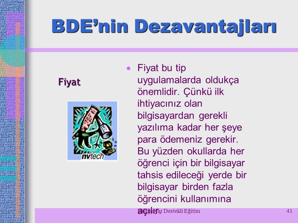 BDE'nin Dezavantajları