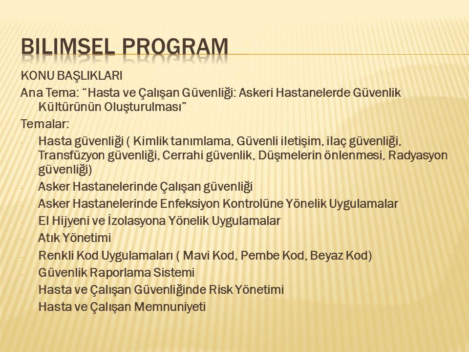 Bilimsel program KONU BAŞLIKLARI