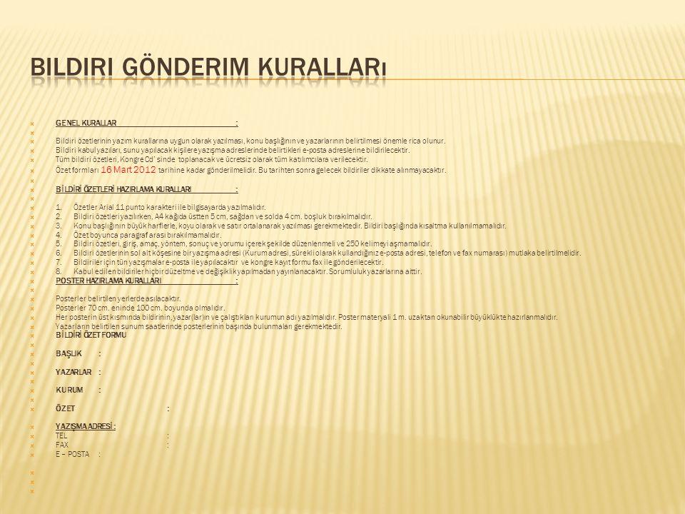 Bildiri gönderim kuralları