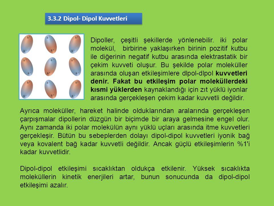 3.3.2 Dipol- Dipol Kuvvetleri