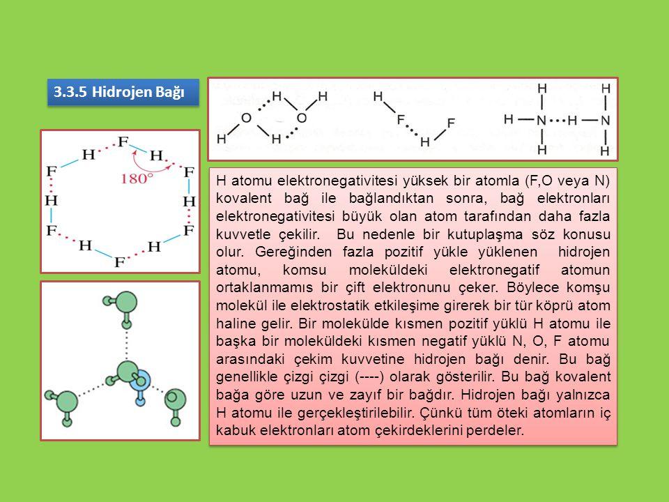 3.3.5 Hidrojen Bağı