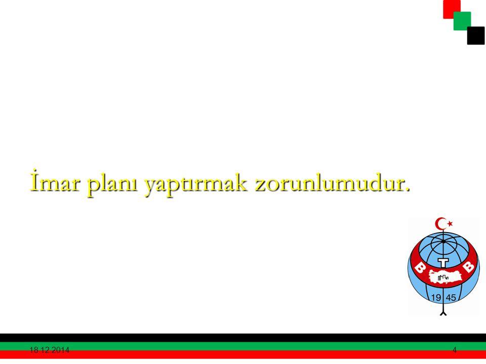 İmar planı yaptırmak zorunlumudur.