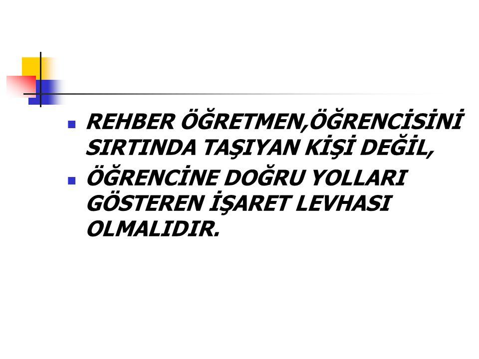 REHBER ÖĞRETMEN,ÖĞRENCİSİNİ SIRTINDA TAŞIYAN KİŞİ DEĞİL,