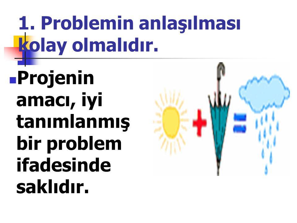 1. Problemin anlaşılması kolay olmalıdır.