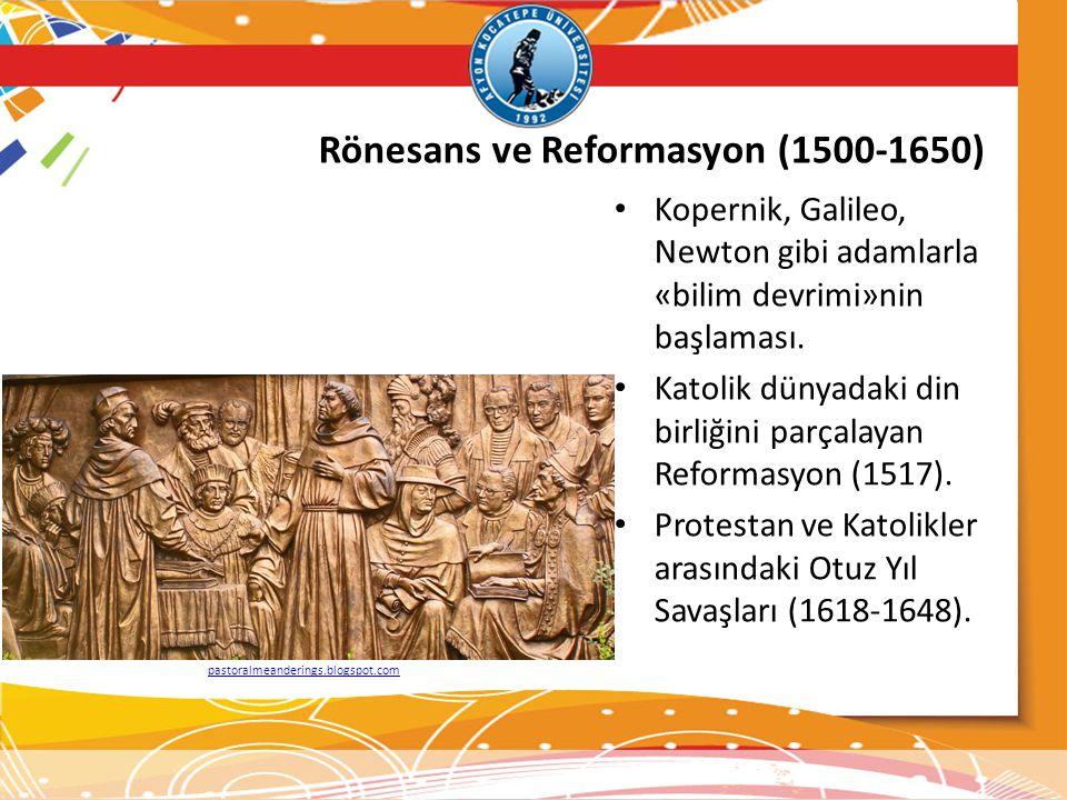 Rönesans ve Reformasyon (1500-1650)