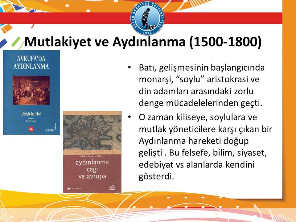 Mutlakiyet ve Aydınlanma (1500-1800)
