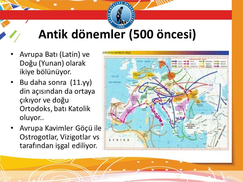 Antik dönemler (500 öncesi)