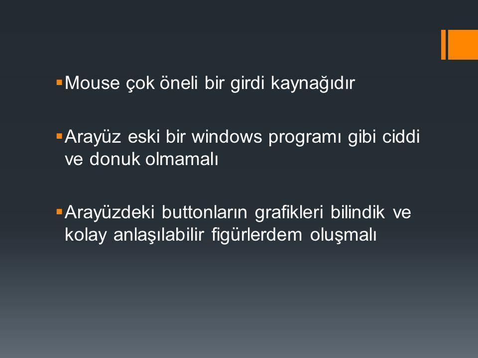 Mouse çok öneli bir girdi kaynağıdır
