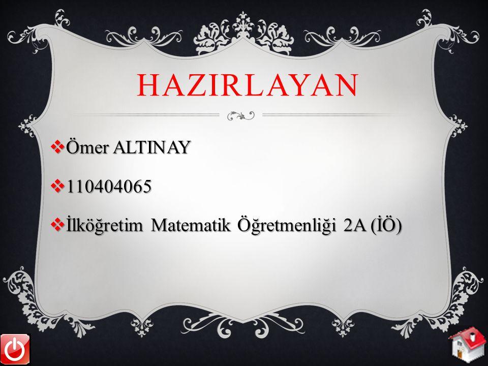 HazIrlayan Ömer ALTINAY 110404065