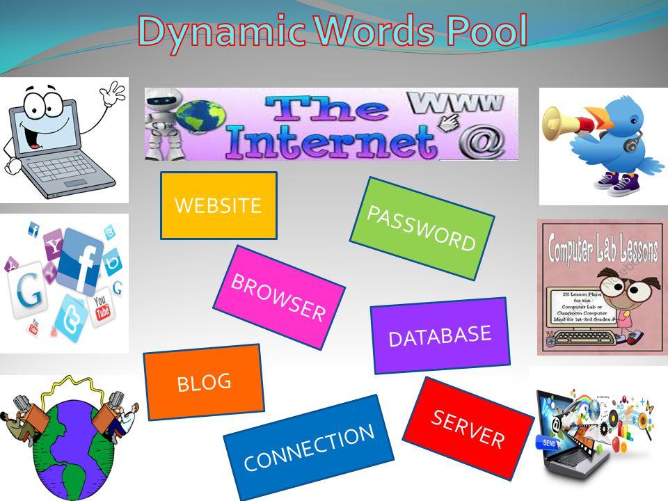 Dynamic Words Pool WEBSITE PASSWORD BROWSER DATABASE BLOG SERVER