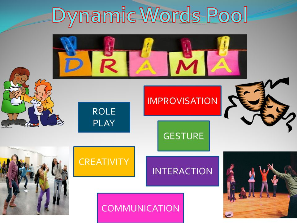 Dynamic Words Pool IMPROVISATION ROLE PLAY GESTURE CREATIVITY
