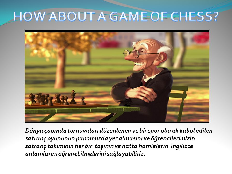 HOW ABOUT A GAME OF CHESS