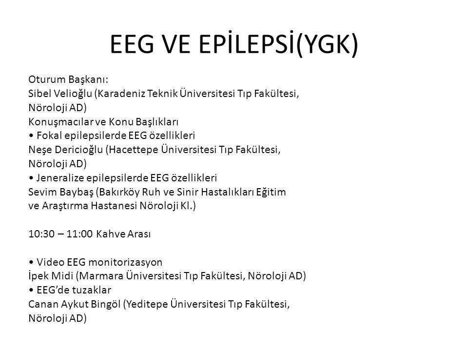 EEG VE EPİLEPSİ(YGK)