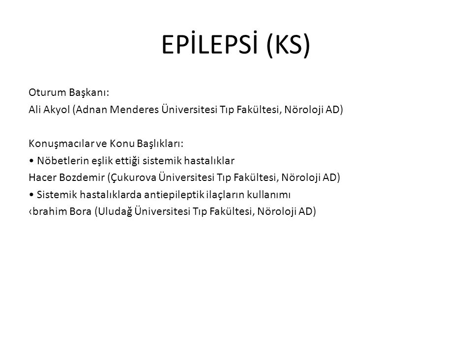 EPİLEPSİ (KS)