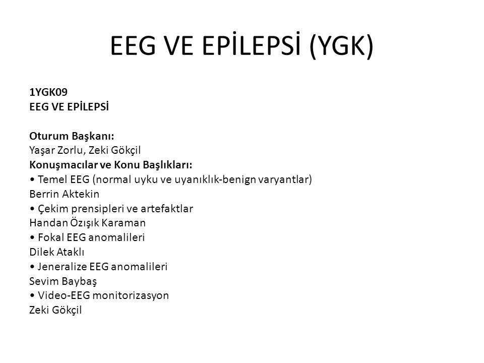 EEG VE EPİLEPSİ (YGK)