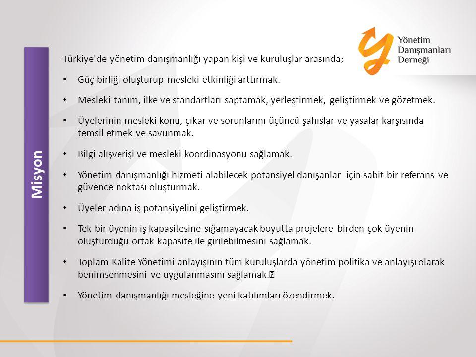 Türkiye de yönetim danışmanlığı yapan kişi ve kuruluşlar arasında;
