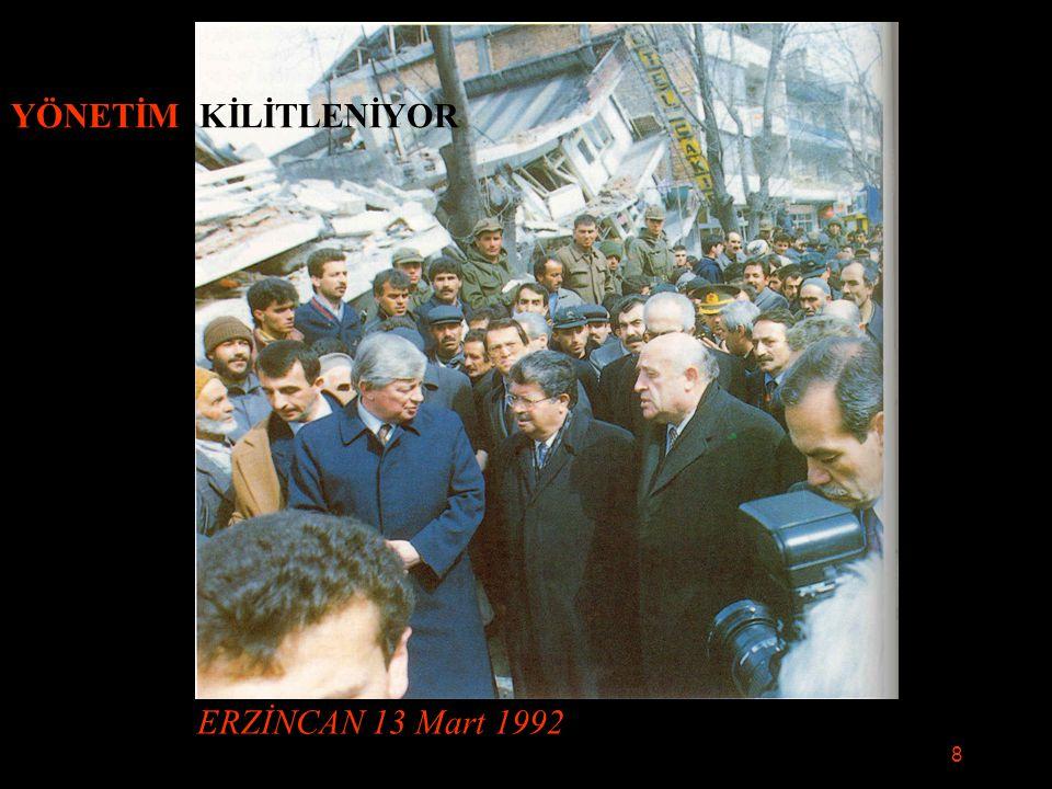 YÖNETİM KİLİTLENİYOR ERZİNCAN 13 Mart 1992