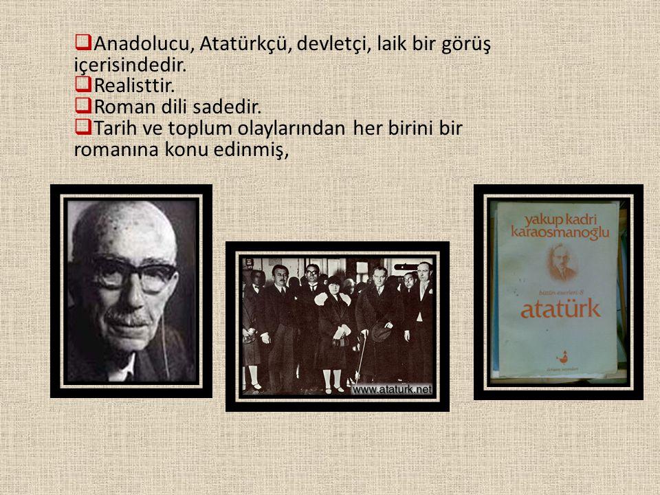 Anadolucu, Atatürkçü, devletçi, laik bir görüş içerisindedir.