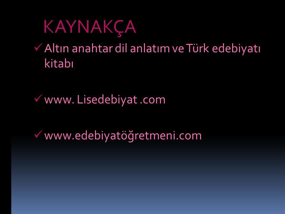 Altın anahtar dil anlatım ve Türk edebiyatı kitabı