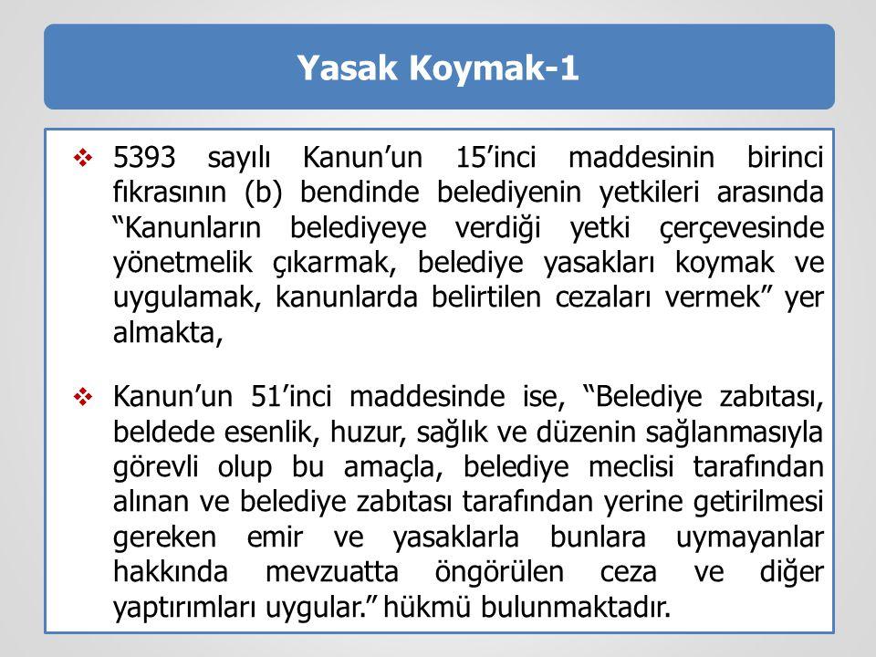 Yasak Koymak-1