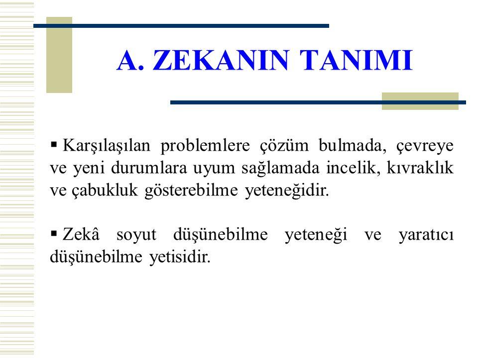 A. ZEKANIN TANIMI