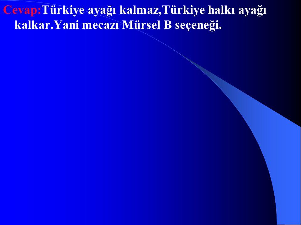 Cevap:Türkiye ayağı kalmaz,Türkiye halkı ayağı kalkar