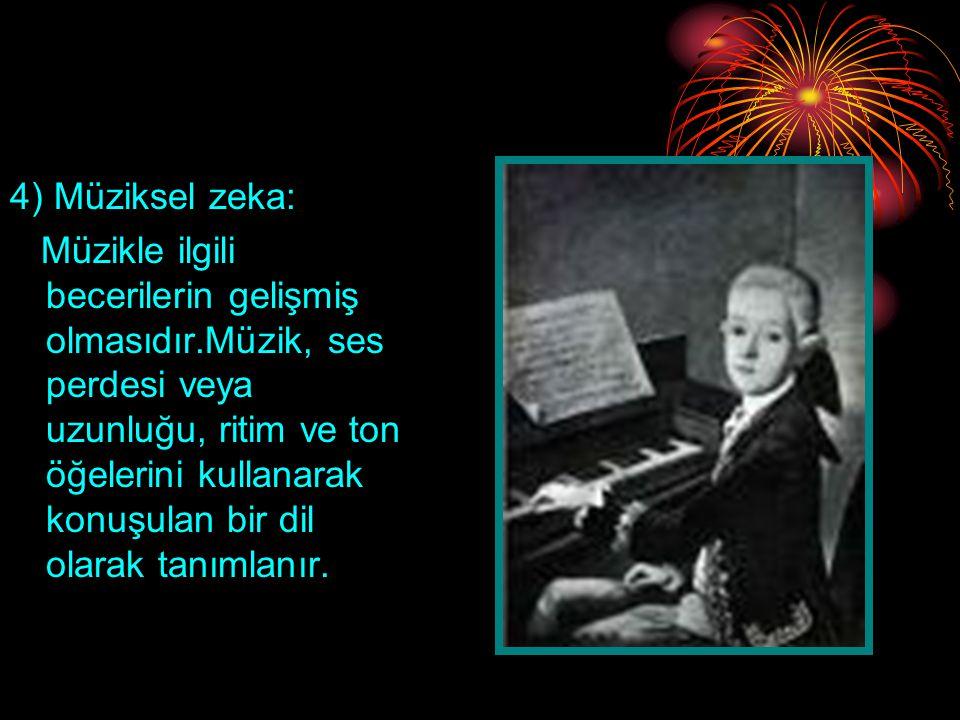 4) Müziksel zeka: