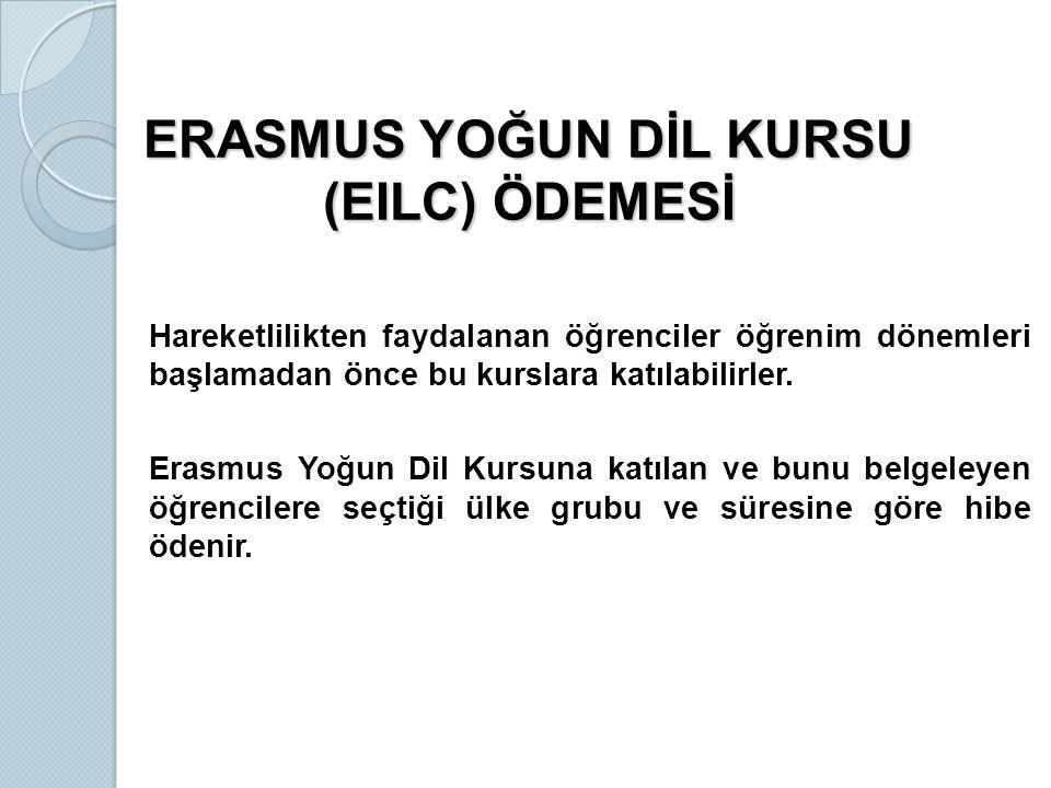 ERASMUS YOĞUN DİL KURSU (EILC) ÖDEMESİ