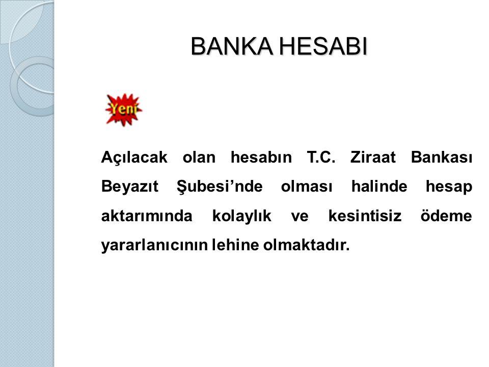 BANKA HESABI