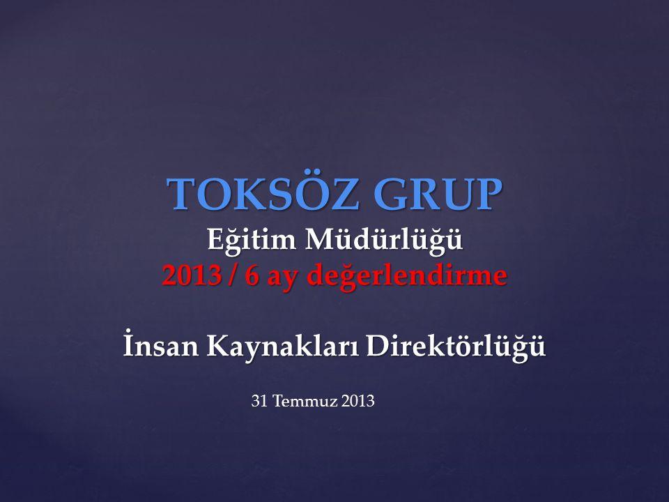 TOKSÖZ GRUP Eğitim Müdürlüğü 2013 / 6 ay değerlendirme İnsan Kaynakları Direktörlüğü