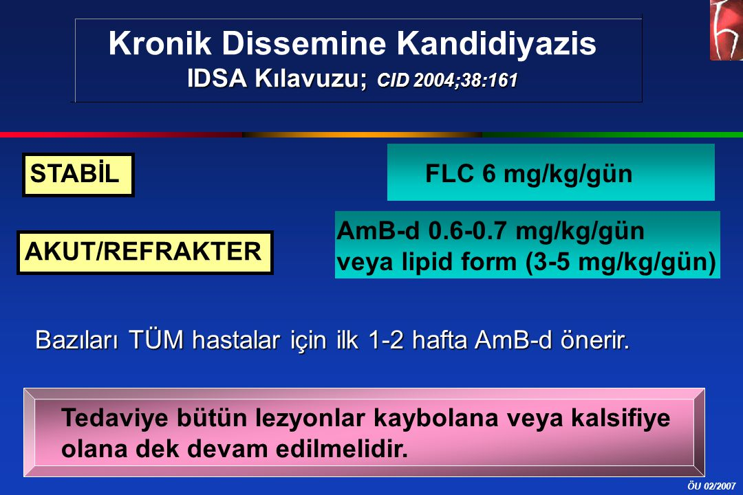 Kronik Dissemine Kandidiyazis