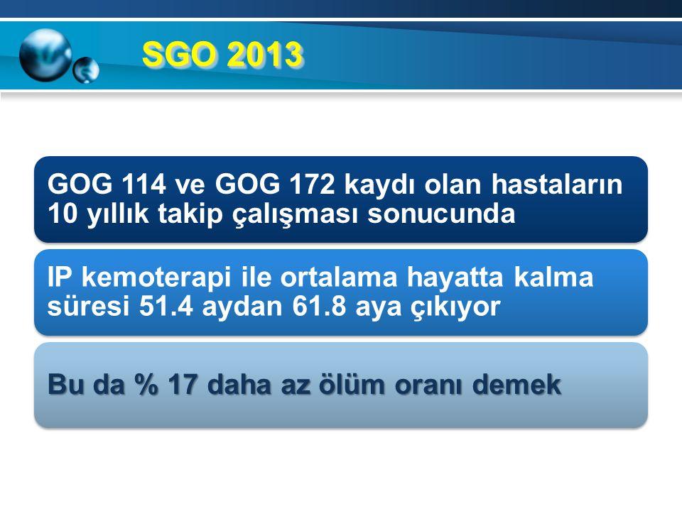 SGO 2013 GOG 114 ve GOG 172 kaydı olan hastaların 10 yıllık takip çalışması sonucunda.
