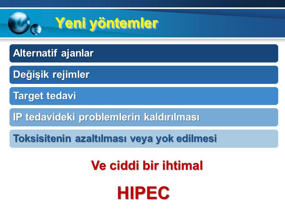 HIPEC Yeni yöntemler Ve ciddi bir ihtimal Alternatif ajanlar